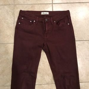 MADEWELL SKINNY JEANS SIZE 28